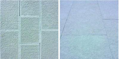 pavimenti in pietra serena in due lavorazioni