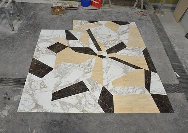 pavimentazione realizzata in marmo