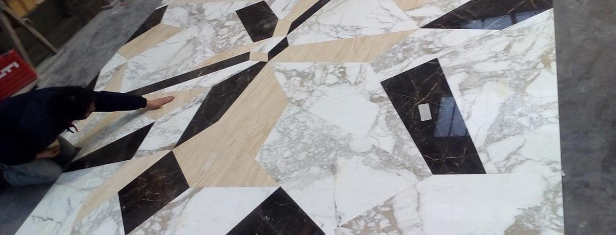 pavimentazione interna in marmo