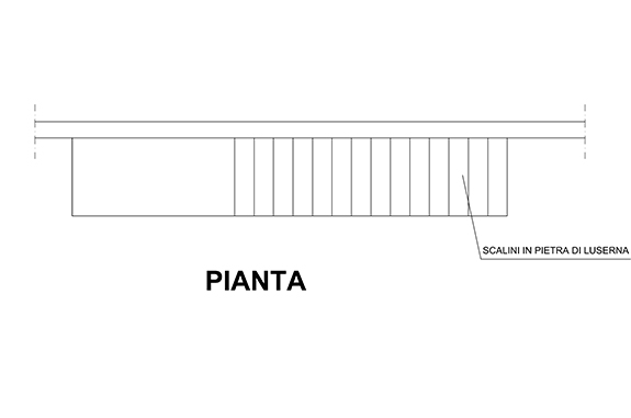 pianta scala in pietra