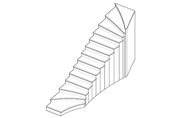 progetto scala marmo bianco