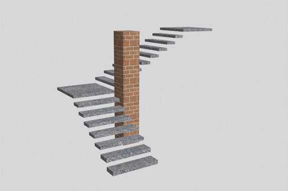 render scala in pietra luserna