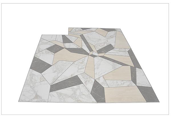Pavimentazione realizzata presso il nostro laboratorio nei materiali indicati a progetto