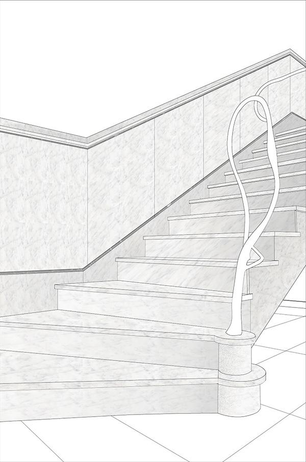 progetto scala in marmo
