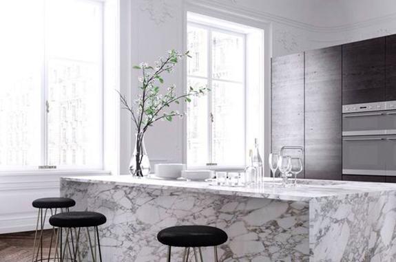 bancone cucina marmo arabescato