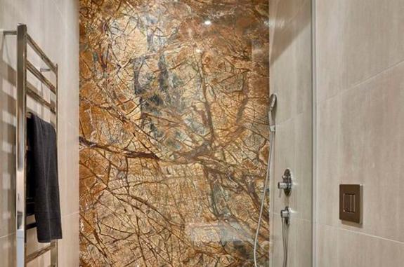 bagni in marmo box doccia pietra rain forest brown