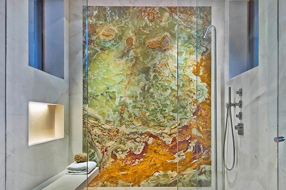 bagni in marmo box doccia pietra onice