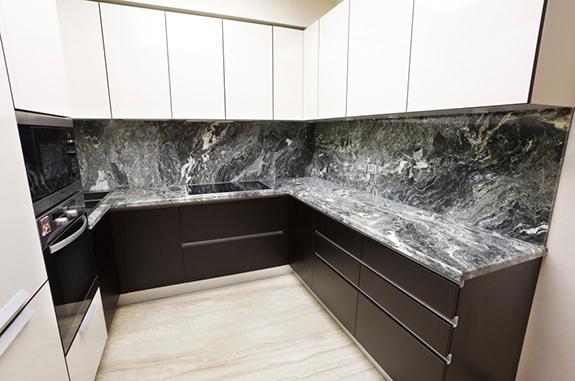 rivestimento cucina marmo arabescato orobico