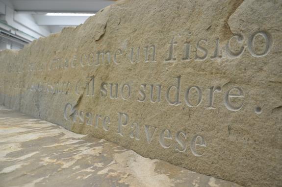 incisione panca pietra