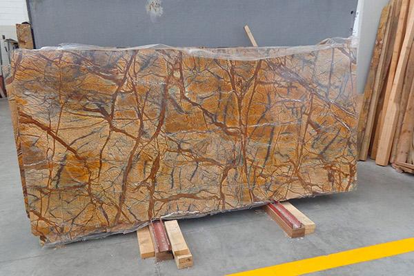 lastra marmo rain forest gold