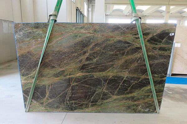 lastra marmo rain forest green