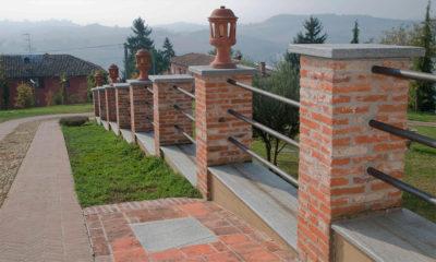 muretto in pietra luserna per giardino