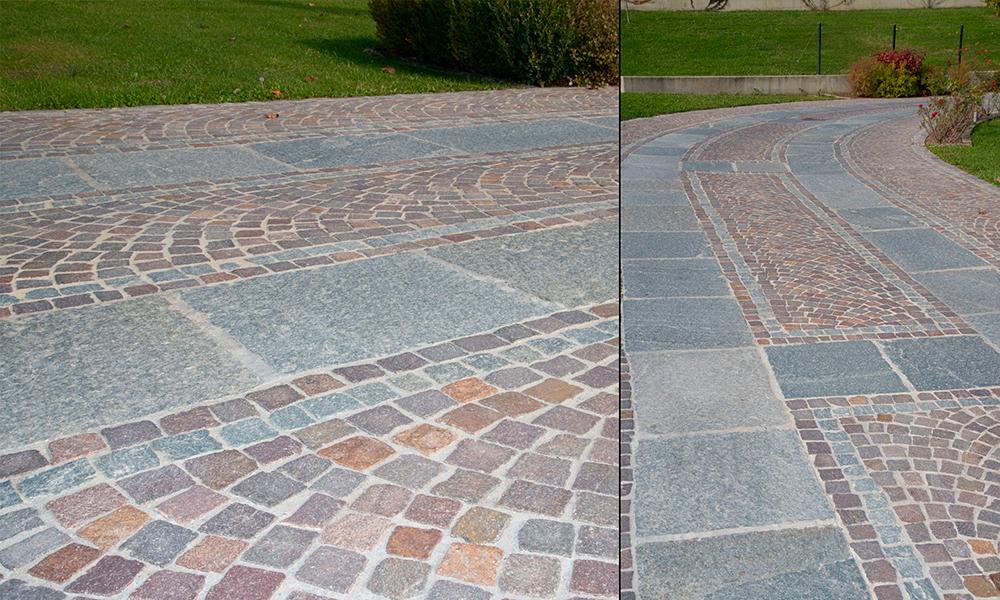 Pavimentazione esterna pietra pietre piastrelle per - Pavimentazione cortile esterno ...