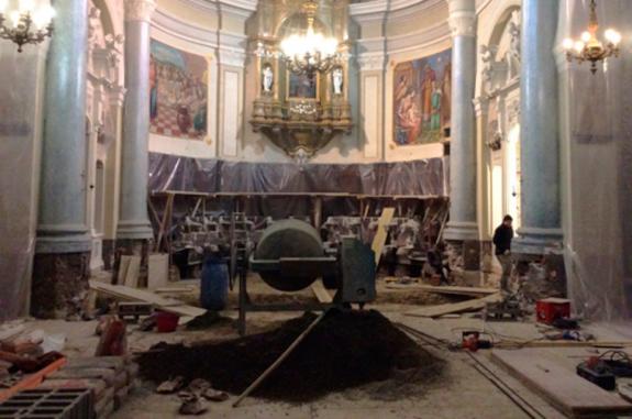 restauro pavimento chiesa