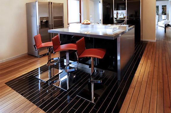 rivestimento cucina marmo nero assoluto