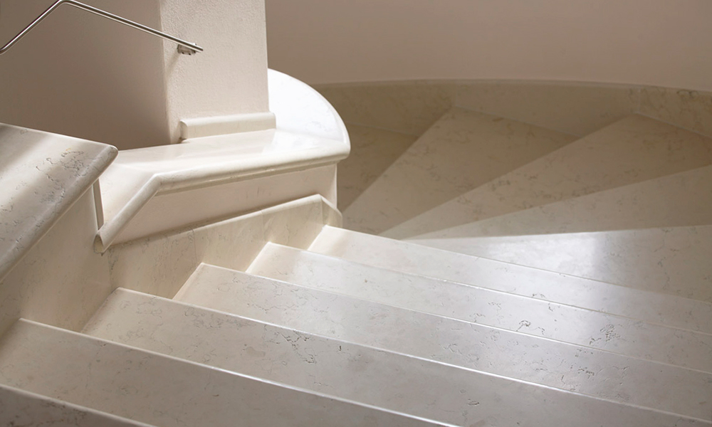 scala interna marmo biancone verona