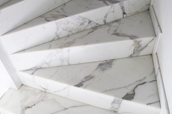 scala marmo bianco