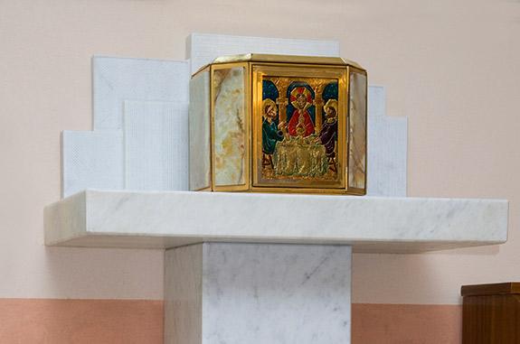tabernacolo marmo bianco
