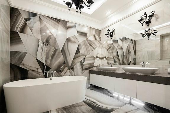 bagni in marmo rivestimento vasca