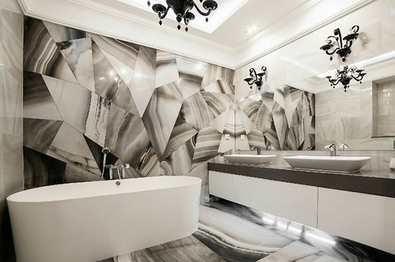 Bagni in marmo e bagni in pietra di lusso soluzioni di design per interni - Vasche da bagno in pietra ...