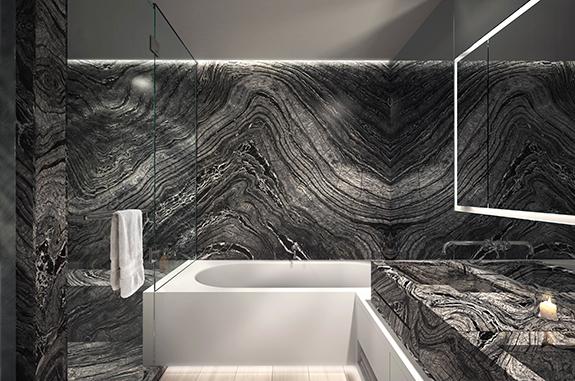 bagni in marmo vasca da bagno in silver wave