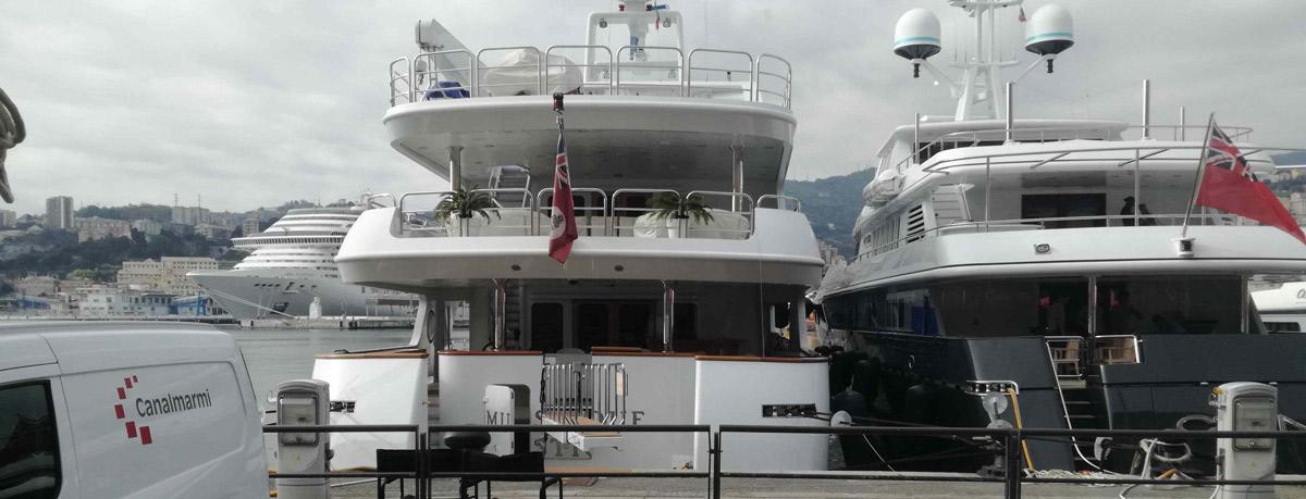 bagni yacht marmo alleggerito