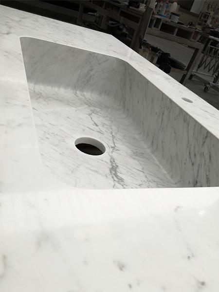 lavabo in marmo per piano cucina