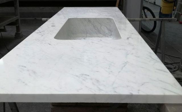 piano cucina marmo carrara
