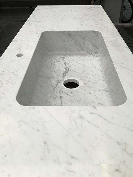 Piano e Top cucina in Marmo bianco di Carrara - Canalmarmi
