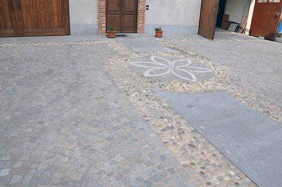 acciottolato pavimento pietra di luserna