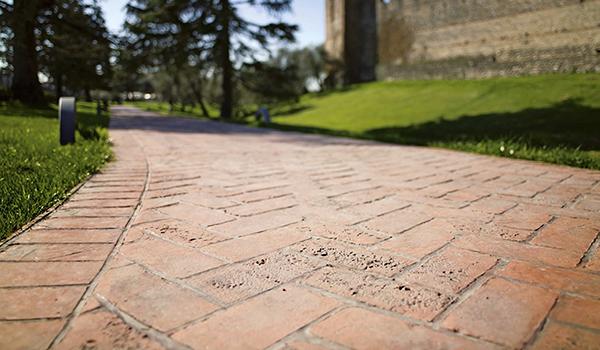 pavimento idealwork stampato parco pubblico