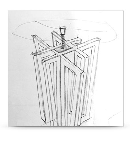 disegno lampada bianca vara