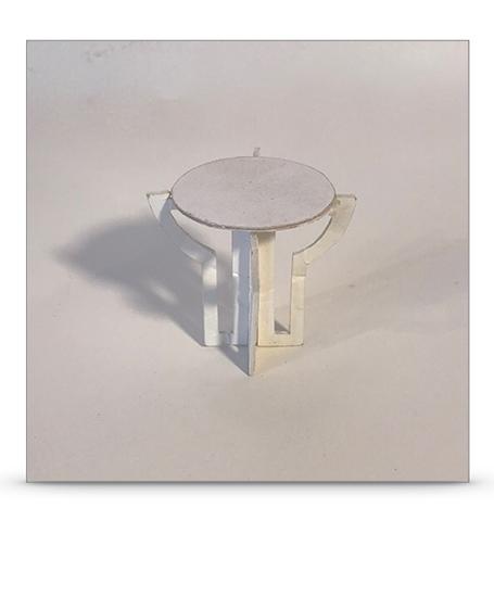 Modellino tavolo Pale