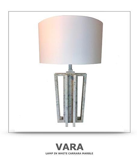 lampada in marmo