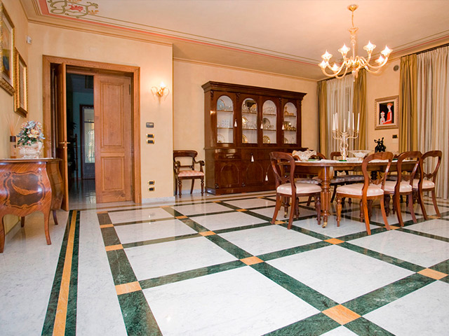 pavimento in marmo di carrara