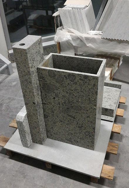 realizzazione supporto acquaio in marmo