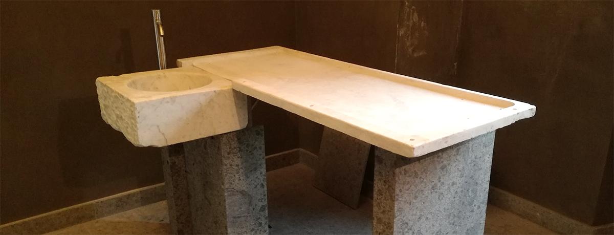 progetto canalmarmi restauro acquaio in marmo
