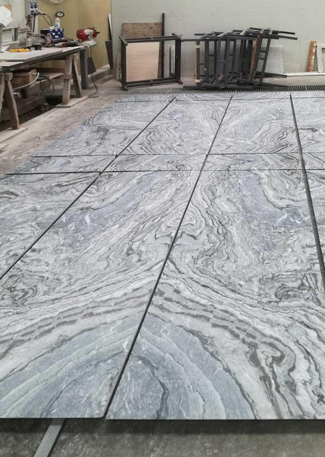 lastre marmo arabescato nero