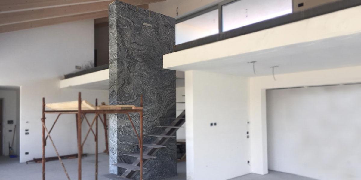 parete interna pietra