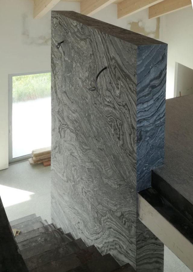 dettaglio parete interna Marmo Arabescato Nero